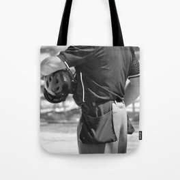 Umpire in Black and White Tote Bag