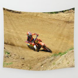 Turning Point Motocross Champion Race Wall Tapestry