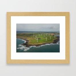 Aerial view of Carnsore Wind Farm Framed Art Print