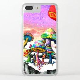Mushroom Paradise Clear iPhone Case