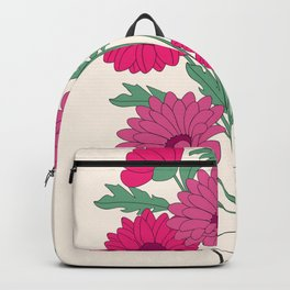 bouquet of dahlias in the vase Backpack