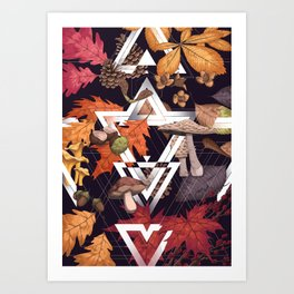 Fall Foliage Shape Art Print