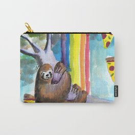 sloth pizza rainbow Carry-All Pouch
