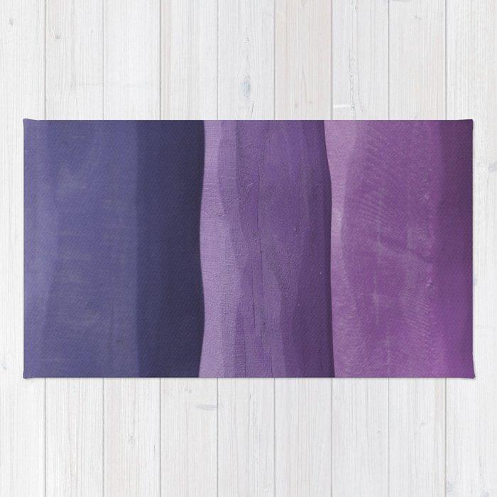 Purple Gradient on Wood Rug