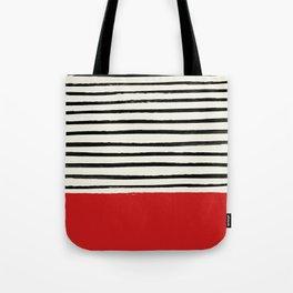Red Chili x Stripes Tote Bag