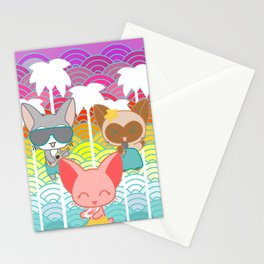 Cats & Palm Trees Stationery Cards
