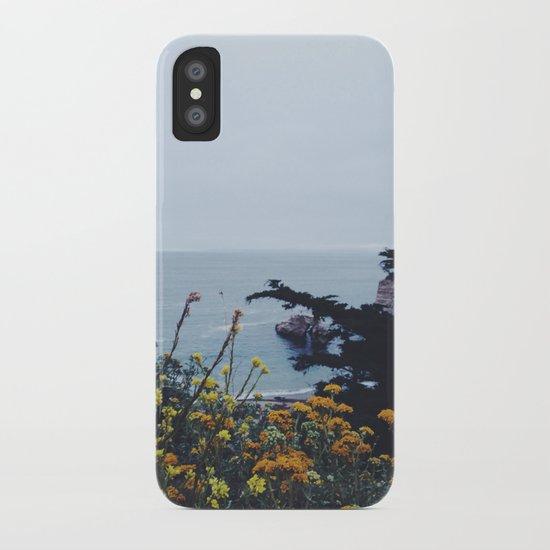 Floral Coast at Dusk iPhone Case