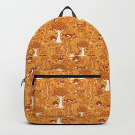 Foxes in a Forest of Fall Trees Backpack