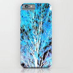 White Trees Blue Leaves iPhone 6s Slim Case