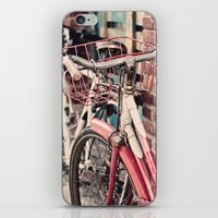 bicycles iPhone & iPod Skins featuring Bicycles by Yolanda Méndez