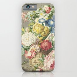 Cornelis Ploos van Amstel, after Jan van Huysum - Flower arrangement (1778) iPhone Case
