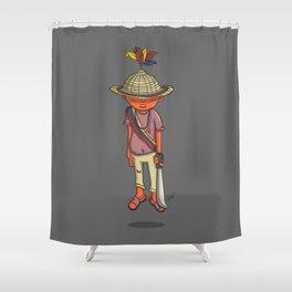 Pacha Sabino Romero Yukpa Shower Curtain