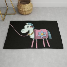 Wooden horse lunging Rug
