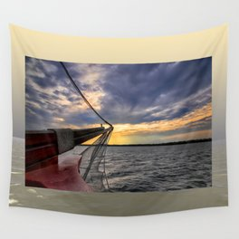 Sunset off the Bow Wall Tapestry