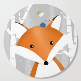 Fox and snail Cutting Board