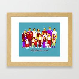 LA FAMILIA REAL Framed Art Print