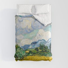 Vincent Van Gogh - Wheat Field with Cypresses Comforters