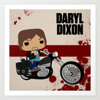 Pop Daryl Art Print