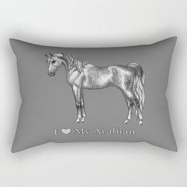 Dapple Gray Horse I Love My Arabian Rectangular Pillow