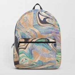 Liquid Bronze Mermaid Sea Marble Backpack