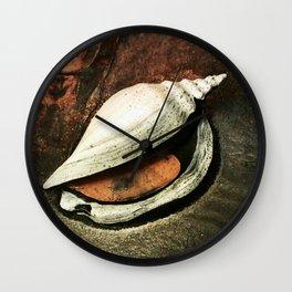 Painted Sea Shell Wall Clock