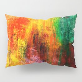 Colorful Red abstract Pillow Sham