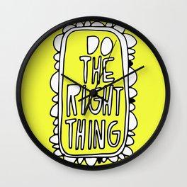 Rule #1: Yellow Wall Clock