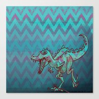 dino Canvas Prints featuring dino  by Bunny Noir