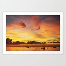 Tangerine Sunset Art Print