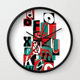 Alpha art Wall Clock