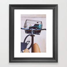 bike rides Framed Art Print