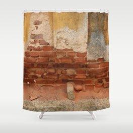Broken old Wall Shower Curtain