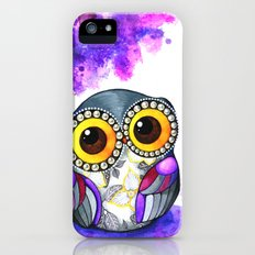 Owl in Purple Blossoms iPhone (5, 5s) Slim Case