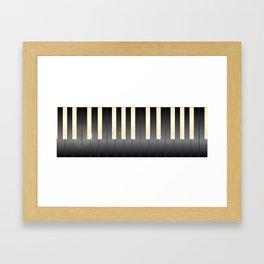 White And Black Piano Keys Framed Art Print