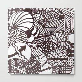 "Black and White ""Illumination"" Metal Print"