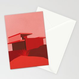 Kaufmann Desert House Red Edition Stationery Cards