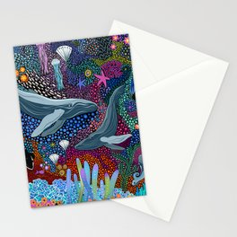 Whale Ocean Life Stationery Cards