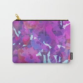 Purple Poppy Patch Carry-All Pouch