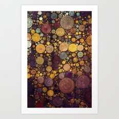 Enchanted Autumn -- Painterly Abstract Fall Color Magic Art Print