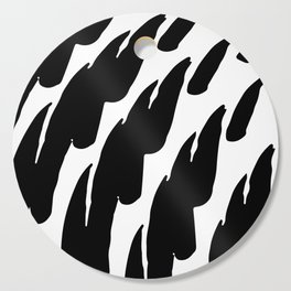 Black Abstract Brush Marks Cutting Board