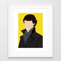 sherlock Framed Art Prints featuring Sherlock by Jessica Slater Design & Illustration
