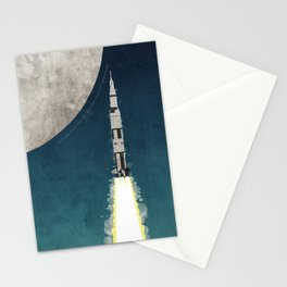 Apollo Rocket Stationery Cards