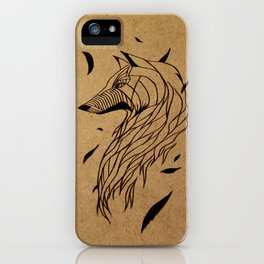 Fall Wolf iPhone Case