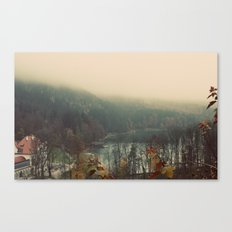 Overlooking the Lake Color Photo Nature Trees Canvas Print