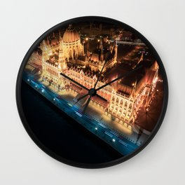 Budapest's Parliament Building, Hungary Wall Clock