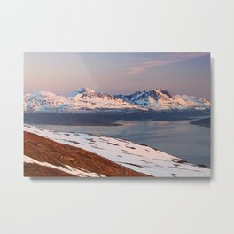 Mountain in Tromso Metal Print