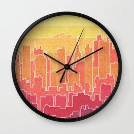 Urban landscape Wall Clock