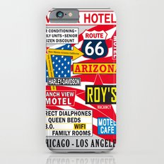 Road 66 and Motel Vintage Print Poster Decoration iPhone 6s Slim Case