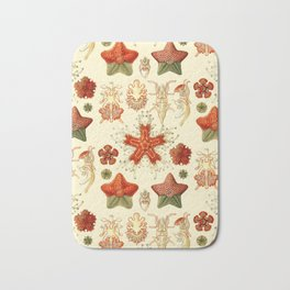 Ernst Haeckel - Scientific Illustration - Asteroidea Bath Mat