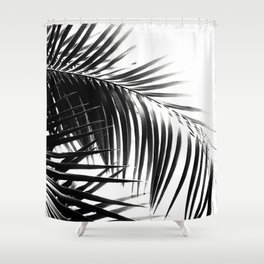 Palm Leaves Black & White Vibes #3 #tropical #decor #art #society6 Shower Curtain